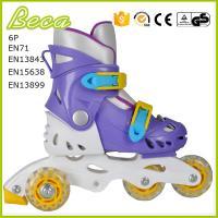 wholesale adjustable plastic pvc wheel 3 wheel roller quad skate