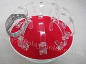 China Rotating Acrylic Wrist Watch Display Rack on sale