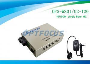China Optical Media Converter 1310 / 1550 Nm Single Fiber SM SC 120KM on sale
