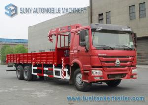 China 336 HP SINOTRUK HOWO 6x4 Truck Mounted Crane XCMG 14T Crane CCC on sale