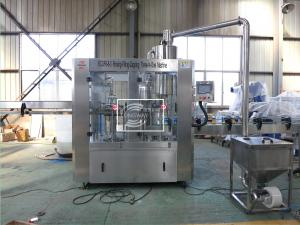 China 100% Factory 3 in 1 Small plastic bottle juice pulp / hot filling machine with agitator on sale