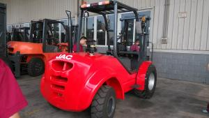China Industrial Rough Terrain Forklift / Heavy Duty Forklift With Mast Hydraulic System on sale