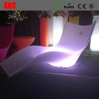Lightweight Swimming Pool Furniture , LED Outdoor Chaise Lounge For Leisure