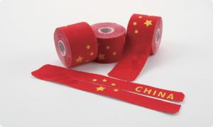 China China flag printed kinesiology tape pre-cut  tape Elastic sports tape of 5cm x 5m on sale