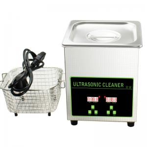 China 50W 40khz Stainless Steel Mini Ultrasonic Cleaner Bath 2L With Digital Timer on sale