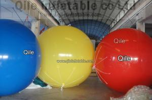China Yellow Blue red Inflatable Advertising Balloons For Commercial Advertising 2.5m Diameter on sale