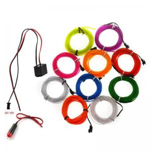 China Electroluminescent EL Wire for Christmas Lighting Indoor and outdoor advertising and decoration on sale