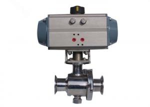 China DIN  Manual Pneumatic Stainless Steel Motorized Ball Valve With Solenoid Valve Position on sale