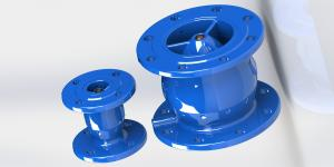 China Non Slam Swing Check Valve With Anti Water Hammer Function epoxy coated ductile iron on sale
