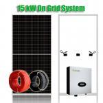 Single Core 2400Pa 15kW On Grid Solar Panel Inverter System