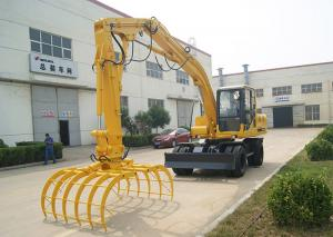 China Chinese hydraulic stacker with grab on sale
