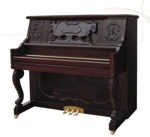 China 125cm Walnut Matt Color Handcraft Wooden Acoustic Upright Piano with Curved Leg AG-125Y4 on sale