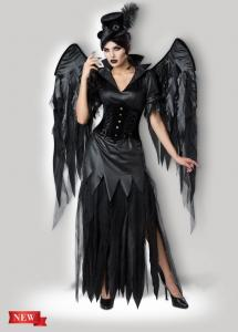 quality midnight raven 1138 womens halloween costumes dress in black with size xs to xxxl for