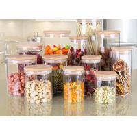 Serving Tea Spice Borosilicate Glass Jar , White Glass Food Storage Canister