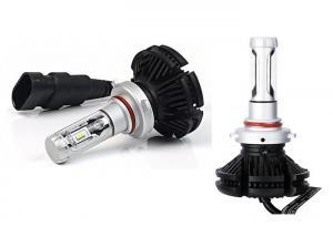 Quality 6000LM X3 Led Headlight Bulbs , 50W 9005 HB3 Led Head Lamp DC 9-32V for sale
