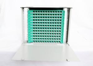 China Rack Mount Optical Fiber Distribution Frame , 144 Cores 12 Fiber Optic Patch Panel on sale