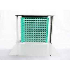 China Rack Mount Optical Fiber Distribution Frame , 144 Cores 12 Fiber Optic Patch Panel on sale