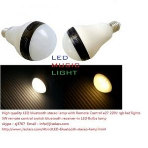 China High quality LED bluetooth stereo lamp with Remote Control e27 220V rgb led ligh on sale
