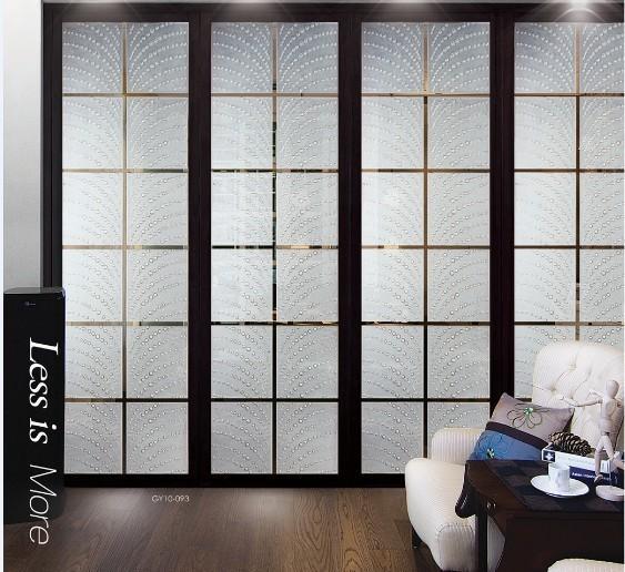 Beautiful Modern Interior Decorative Glass Doors / Translucent Glass Door Panels For  Curtain Walls