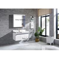 China Simple Design Modern PVC Bathroom Vanity With Washing Basin And Mirror on sale