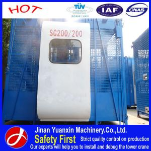 China China supplier Yuanxin Factory SC200/200 construction elevator for building on sale