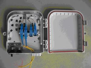 China Plastic Optic Fiber Distribution Box 8 Port For FTTH / CATV on sale
