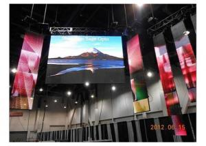 China High Power RGB Led Video Wall for Bus Stations 160*160mm 1R1G1B 40000 Dots / ㎡ on sale
