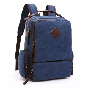 Quality Thick Canvas Stylish Bags For College Guys / Versatile Laptop Bag With Zipper for sale