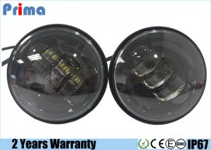 China 4.5 Inch 30W Harley Motorcycle LED Headlights No Halo Ring Waterproof IP67 on sale