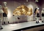 Giant Gold Color Fiberglass Wing Sculpture , Fiberglass Resin Sculpture All Handmade