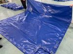 PVC Waterproof Tarpaulin Container Cover With Eyelet