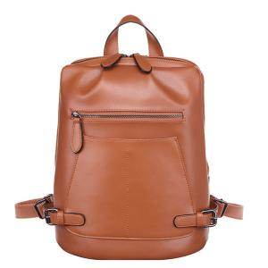 China Wholesale Hot Selling Fashion Womens Leather Backpack Purse on sale
