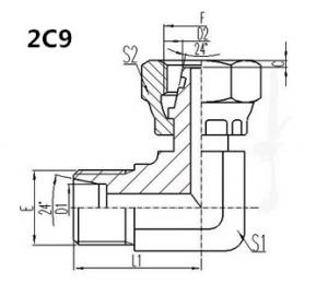 China 2C9 hydraulic hose fitting, carbon steel material and complete in specifications on sale