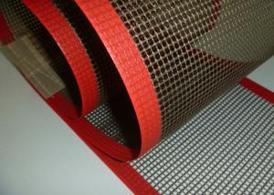 China High Strength Glass Fiber Woven Fabric PTFE Mesh / PTFE Mesh Screen on sale