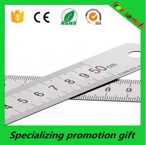 China Custom logo promotional  50cm Stainless steel tape measure tool metal ruler  made in China with  Accurate calibration on sale