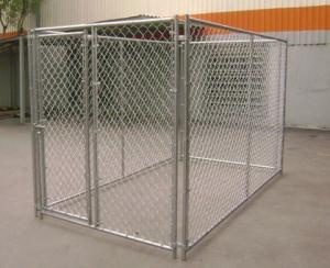 China Large galvanized chain link outdoor dog kennel runs on sale