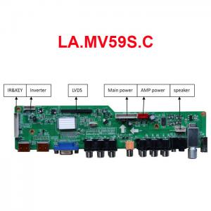 China LA.MV59S.C TV Board with VGA/HDMI/AV/YPbPr/USB/Audio/TV on sale