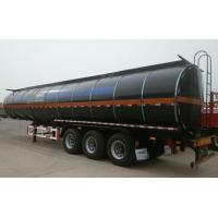 Heating Asphalt Tank Semi Trailer 35 - 60cbm 3 Axle Insulated Tanker Trailers