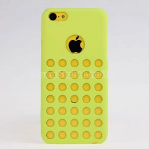 China New Design Dot Holes Tpu Silicone Case Cover For  iPhone 5C on sale