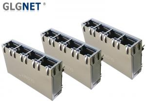 China 4 Ports ICM RJ45 Multiple Port Connectors 1G Support 100W UPoE+ With LED on sale