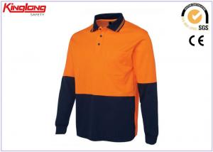 China Men s Polo Shirts High Visibility Workwear Long Sleeve Safety Work Wear Shirt on sale
