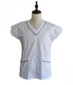 China White Easy Wash Medical Work Uniforms Womens Nursing Scrubs Suit Uniform on sale