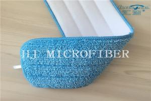 China Blue Color Microfiber Stripe Twisted Pile Fabric Mop Heads Mop Replacement Pads on sale