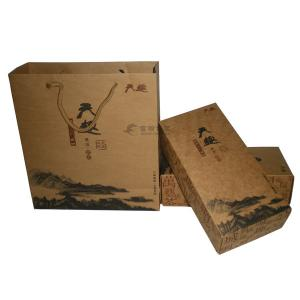 China Craft paper packaging box and bag on sale