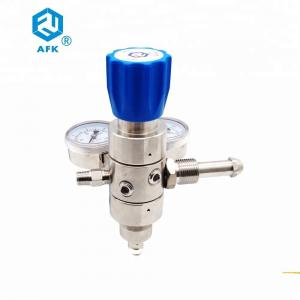 China Made in China dual stage argon gas pressure regulator with compression fittings on sale