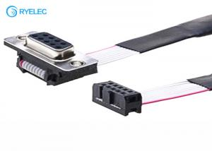 China UL2651# AWG28 Flat Ribbon Cable Assembly 2x5P IDC To DB9 Female Connector on sale