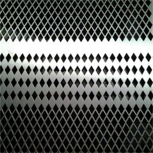 China Diamond Perforated Sheet Metal , Perforated Aluminum Plate Hexagonal Hole on sale