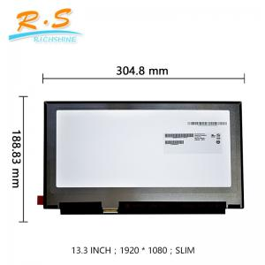 China 1920*1080 IPS lcd display screen , 13.3 Widescreen notebook lcd screen B133HAN02.5 on sale