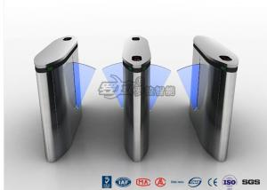 China IP54 Anti - Breakthrough Flap Turnstile Speed Automatic Gates Barcode System With Bule Light on sale