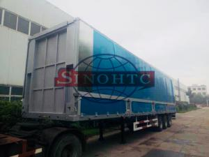 China Aluminum Container Semi Trailer 3 Axles Hydraulic Wing Van Trailer on sale